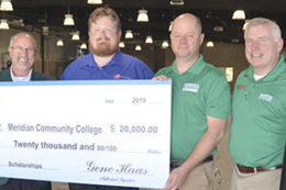The Precision Machining and Manufacturing Program at Meridian Community college received a post-secondary grant of $20,000 from the Gene Haas Foundation.